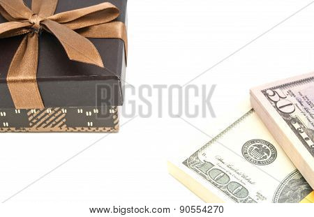 Brown Gift Box And Notes