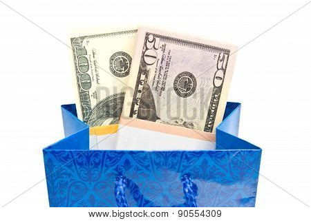 Money In Blue Gift Package