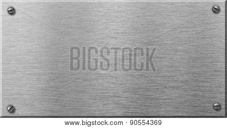 steel metal plaque with rivets