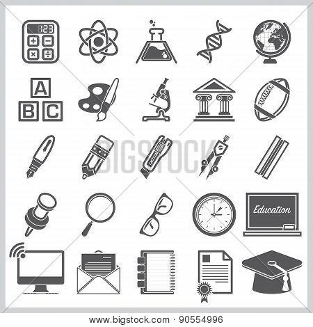 Education And Learning Sign Symbol Icon Set