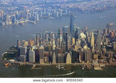 Manhattan New York aerial view