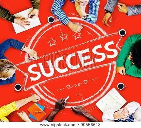 Success Achievement Business Banner Badge Concept