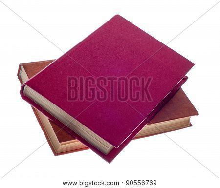 Two  Book  On A White Background