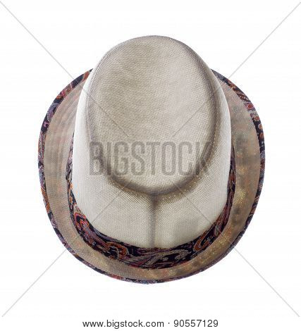 Hat With Fields  Isolated On White Background