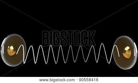 Abstract futuristic audio speaker