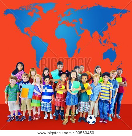 Global Globalization World Map Environmental Concservation Concept