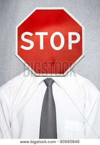 Business Concept Metaphor Of Failure, Stress, Ban