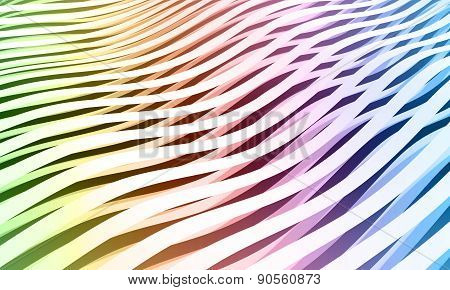 Colorful Abstract Wave Stripes Background