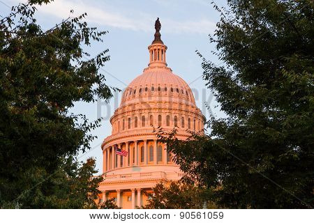 Us Capital Building In Washington Dc, Usa