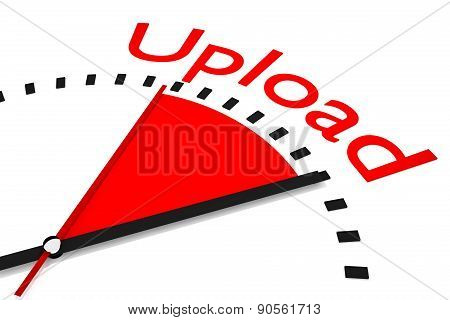 Clock Red Area Upload Speed