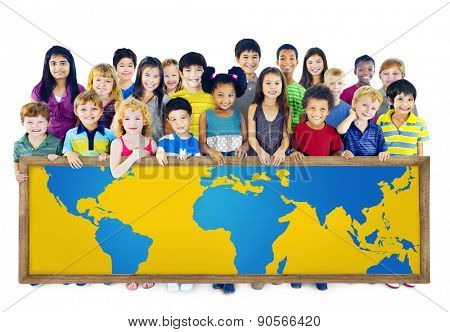 Global Globalization World Map Environmental Conservation Concept