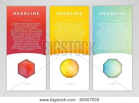 Bright gems template set