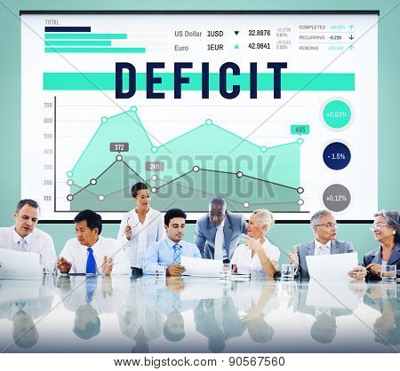 Deficit Problem Crisis Liability Concept