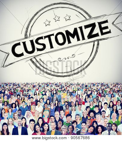 Customize Solution Customer Service Products Business Concept