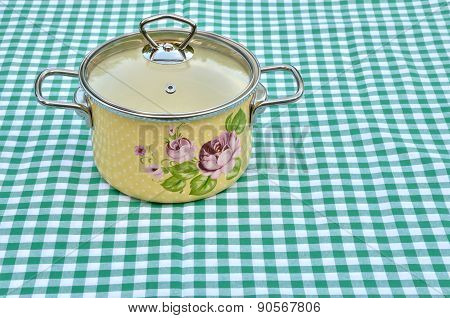 Casserole With Floral Pattern