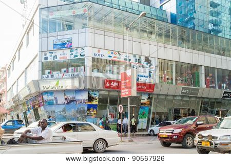 The  Shopping Areas Of Downtown Dar Es Salaam