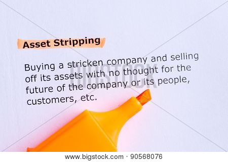 Asset Stripping