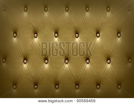 Luxurious Dark Golden Leather  Seat Upholstery