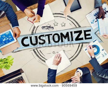 Customize Customization Meeting Seminar Concept