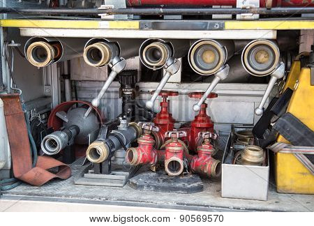 Equipments Of Firefighters To Fire Off