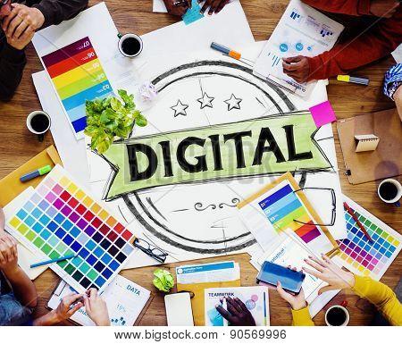 Digital internet Online Marketing Commercial Global Concept