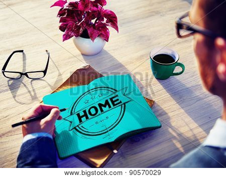 Home Residential Family Living House Concept