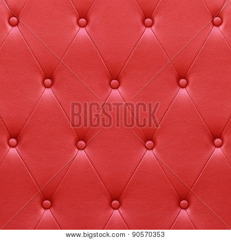 Luxurious Red Leather  Seat Upholstery