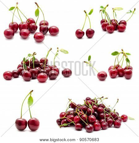 Collection Of Photos Juicy Ripe Sweet Cherry