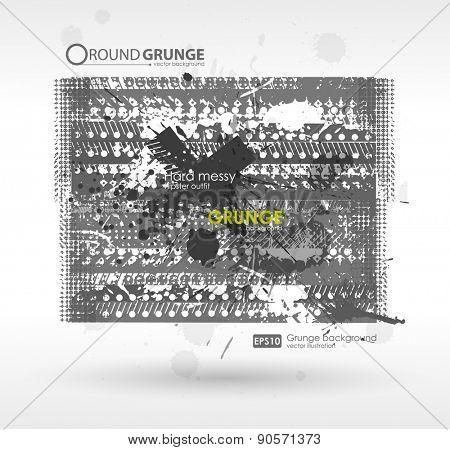 Grunge background. Hand drawn. Texture background with Abstract shape
