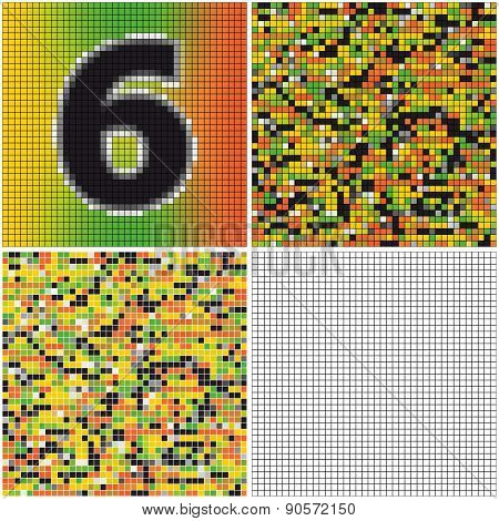 Number Six (mixed Mosaic)
