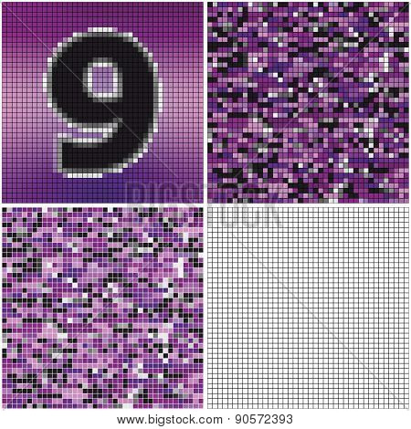 Number Nine (mixed Mosaic)
