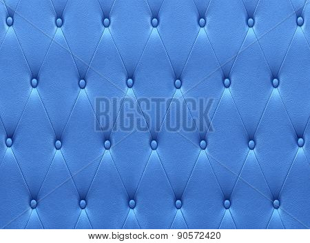 Pattern Of Blue Leather Seat Upholstery
