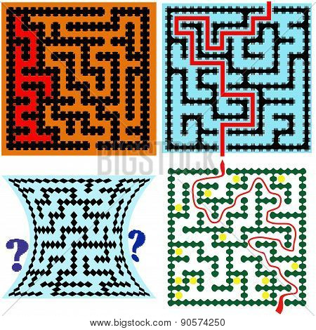 Four Square Maze (9X9) With Help