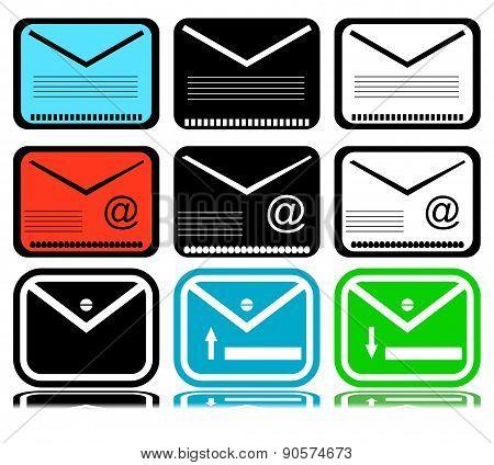 Set Of Mailing Envelope