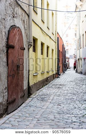 Architectural Details Of Old City Center In Riga, Latvia