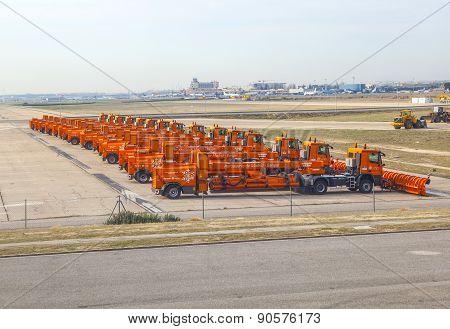 Snowplows Park At Barajay Airport
