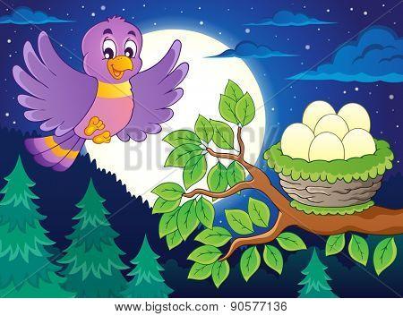 Bird topic image 6 - eps10 vector illustration.