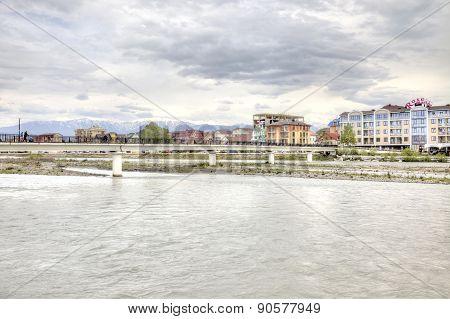 Sochi. Adler. Mzymta River