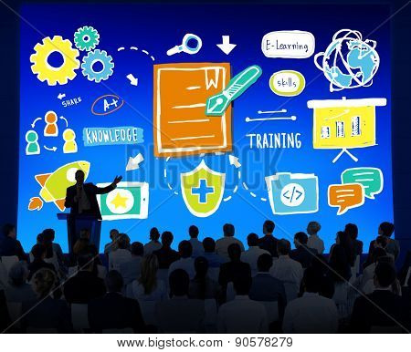 Business People Training Strategy Seminar Conference Concept