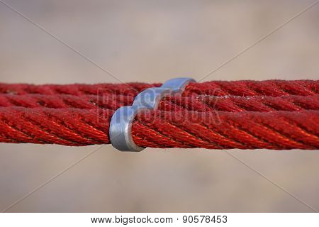 Red ropes and metal part 1