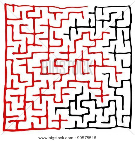 Black Square Maze (18X18) With Help