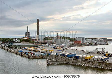 Industrial Port Of Stockholm