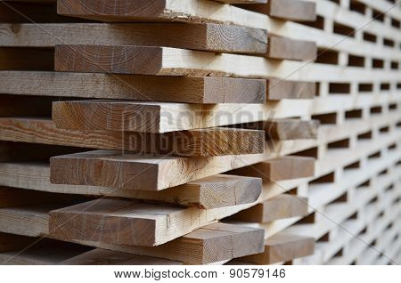Wall Built Of Wooden Planks, South Bohemia