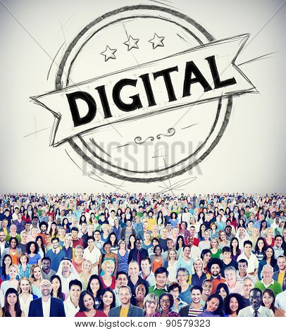 Digital People Modern Electronic Devices Vision Technology Concept