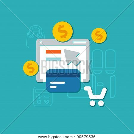 Flat Payment Background