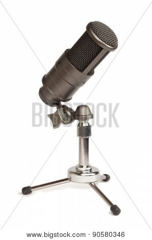 Condenser Mic On A Table Stand