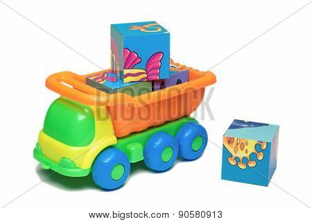 Toy Truck Carrying Bricks