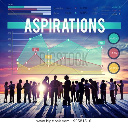 Aspirations Goal Target Strategy Marketing Business Concept