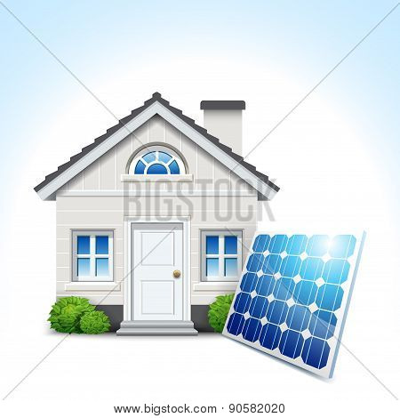 House & Solar Panel