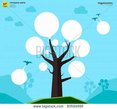 Organization Chart Tree Concept. Vector Illustration